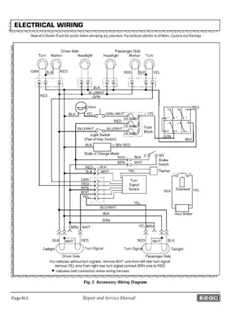 Ezgo Brake Light Wiring Diagram by Wiring A 8 Wire Turn Signal W Horn