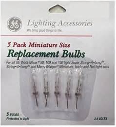 ge mini replacement bulbs 2 5 v clear spare christmas tree lights amazon com