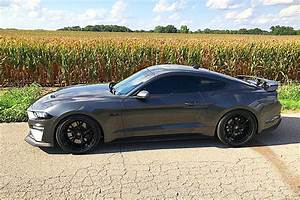Magnetic Grey Mustang GT gets a new color combo sporting Project 6GR 10-TEN wheels in Gloss ...