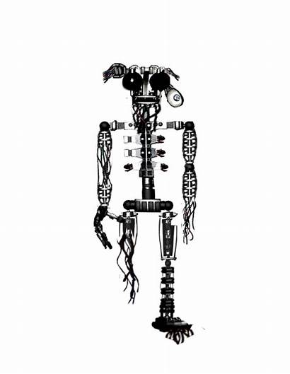 Fnaf Endoskeleton Pages Colouring Withered Endoskelton Again