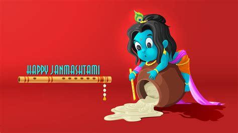 happy janmashtami baal krishna picture