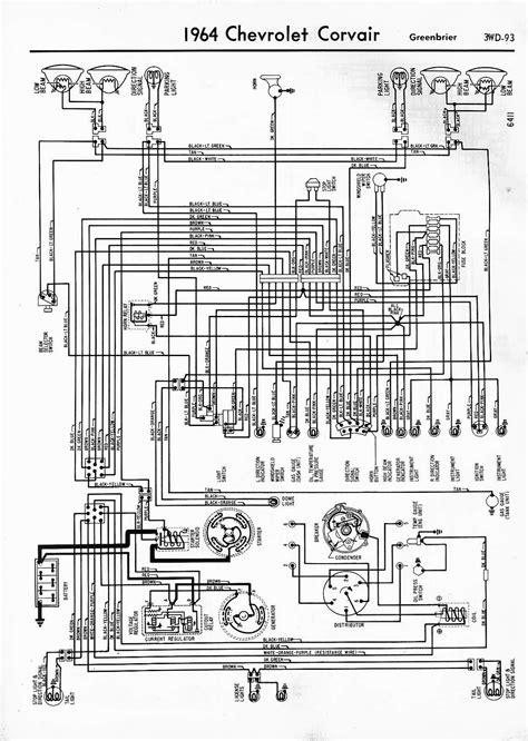 auto wiring diagram  chevrolet corvair