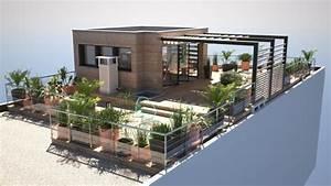 Amenagement Terrasse De Toit : architectes am nagement d 39 une toiture terrasse ~ Premium-room.com Idées de Décoration