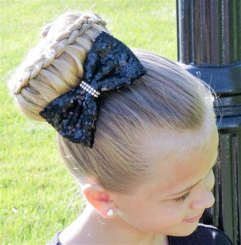 Whimsical Braided Bun Girls hairdos Little girl