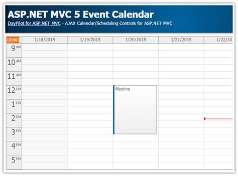 tutorials daypilot aspnet mvc calendar scheduler