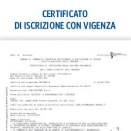 certificati certificato  iscrizione  vigenza