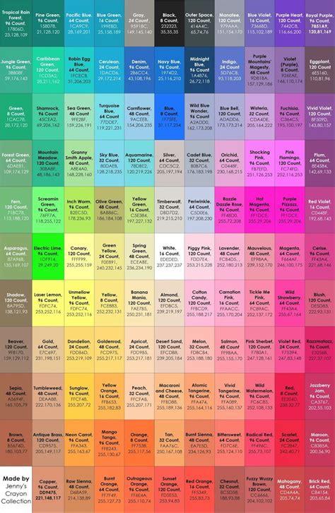 crayola color names best 25 crayola crayon colors ideas on
