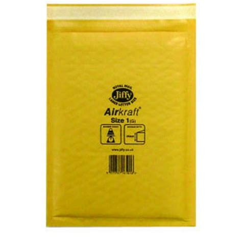 04603 Teehood Discount Code by Jiffy Airkraft Bag Size 1 170x245mm Gold Go 1 Pack Of 10