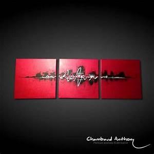 tableau rouge un tableau contemporain aux couleurs rouge With couleur peinture pour salon moderne 14 tableau abstrait moderne rouge noir blanc