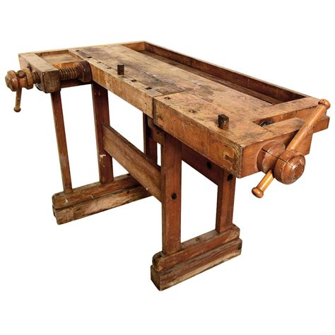 antique vintage carpenters bench table  stdibs
