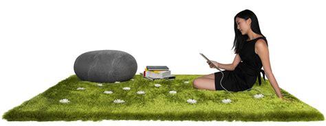 tapis interactif avec de lherbe  des fleurs daisy garden