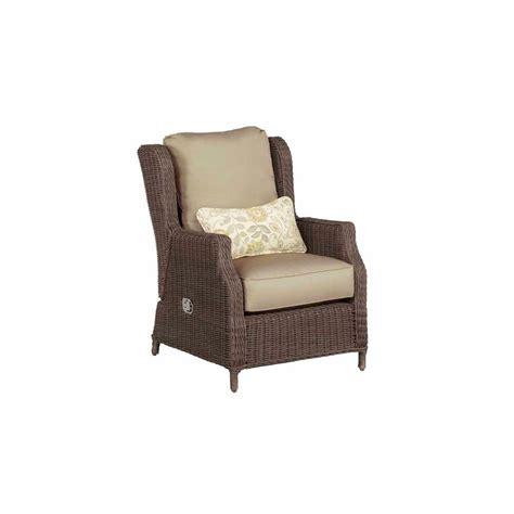 brown vineyard patio motion lounge chair in meadow
