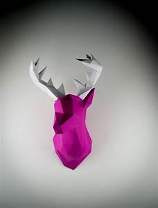 Trophée Animaux Origami : trophee chasse papertrophy holger hoffman 3 tuxboard ~ Teatrodelosmanantiales.com Idées de Décoration