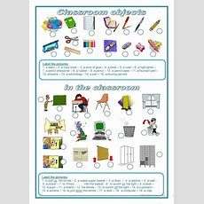 93 Free Esl Classroom Objects Worksheets