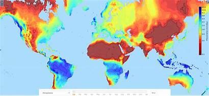 Precipitation Climate Maps Temperature Diurnal Range Vivid