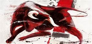 Stier Bilder Auf Leinwand : wandbild espana auf leinwand roter stier abstrakt eurographics ~ Whattoseeinmadrid.com Haus und Dekorationen