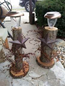 Tree Trunk Table Lamp by 28 Beautiful Recycled Wood Christmas Decorations