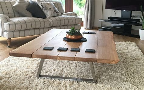 Go for the green with a pretty floral or orchid arrangement. industrial style coffee table from tarzan tables - the piranha - TarzanTables.co.uk