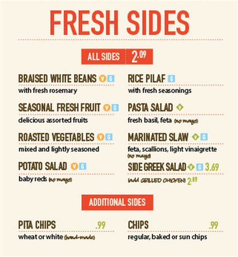 zoes kitchen menu zoes kitchen menu sides wow