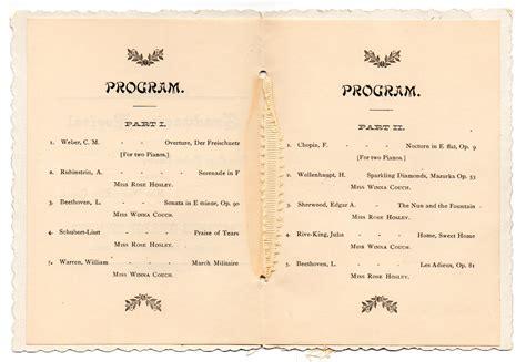 printable birthday party program