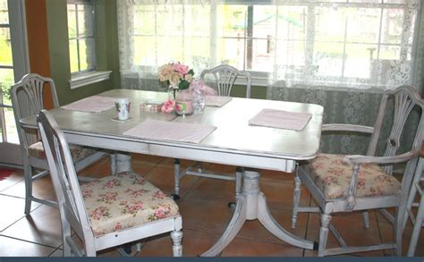 Duncan Phyfe old table and chairs redo   For the Home