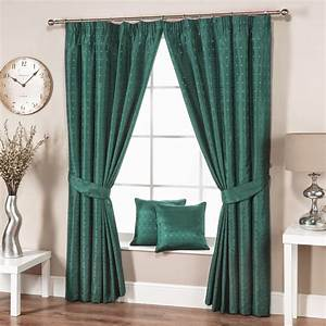 Green living room curtains for modern interior for Aqua curtains living room