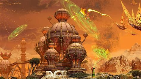 full hd wallpaper wizard town spell attack desktop backgrounds hd p
