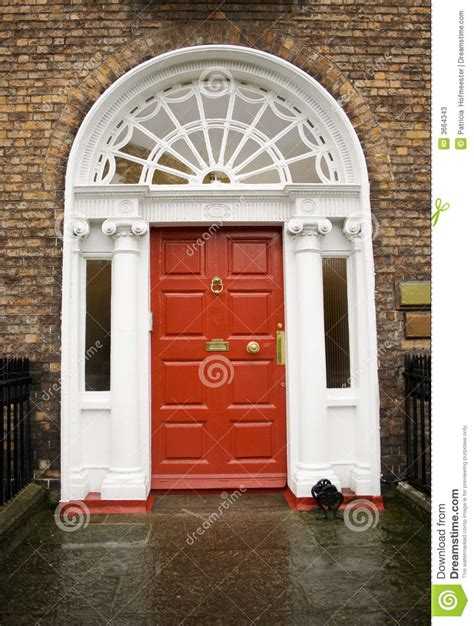 dublin georgian red door stock  image
