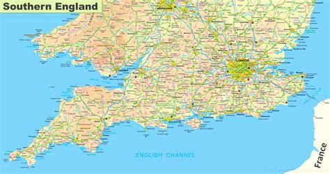 map  southern england