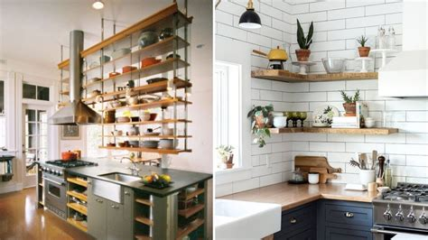 clever kitchen shelving ideas  living  kitchen