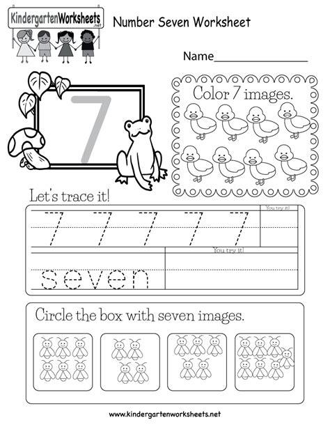 number seven worksheet free kindergarten math worksheet for kids