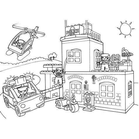 Vliegveld Kleurplaat by Leuk Voor Lego City Politiebureau