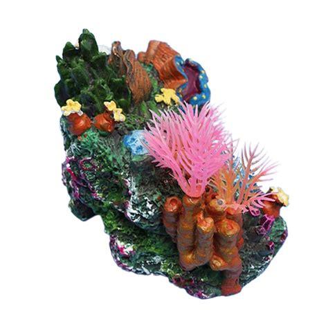 decorative reefs 2016 new arrive artificial mounted coral reef fish cave tank decor aquarium ornament in
