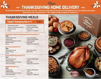 Thanksgiving Boston Market Delivery Menu Meals Catering