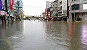 全台降雨量第一 台南仁德多處淹水管制通行