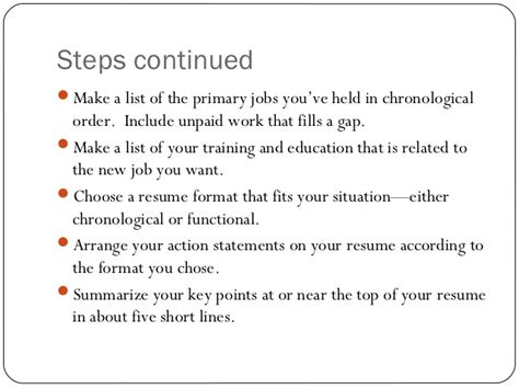 Steps On Writing A Resume by Resume Writing Ppt Presentation