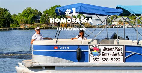 Boat Rental Homosassa Fl by Homosassa River Airboat Tours Manatee Tours Homosassa