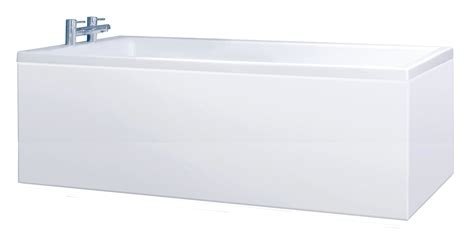 White Bath by Crown High Gloss White 1 Bath Panels