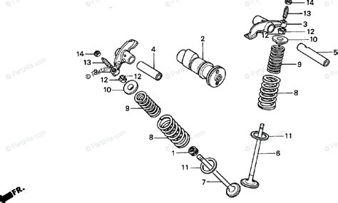 Honda Motorcycle Oem Parts Diagram For Camshaft