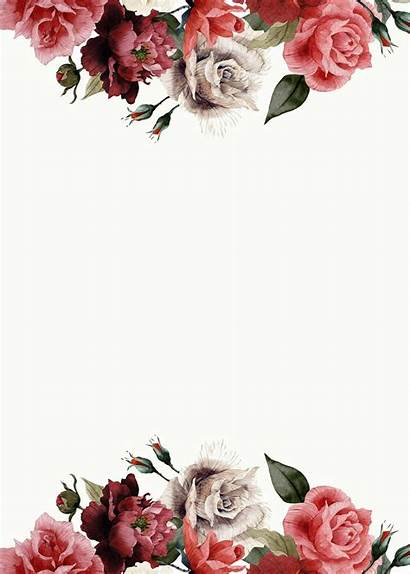 Blank Templates Invitation Floral Template Invitations Background