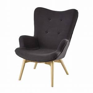 Fauteuil Scandinave Tissu : fauteuil scandinave en tissu anthracite iceberg maisons du monde ~ Teatrodelosmanantiales.com Idées de Décoration