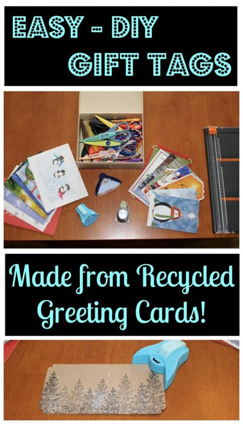 Easy, Diy Gift Tags {made From Recycled Greeting Cards