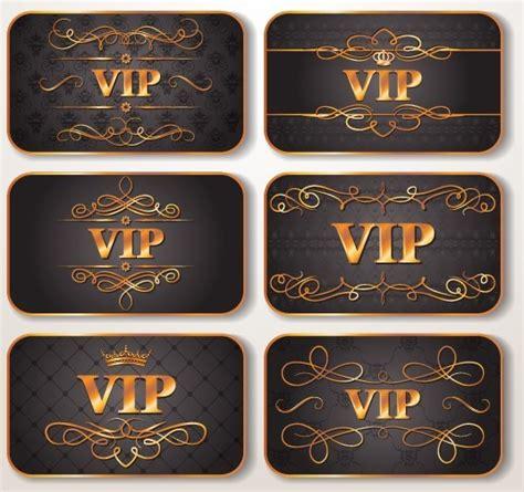 elegant golden border vip card vector  titanui