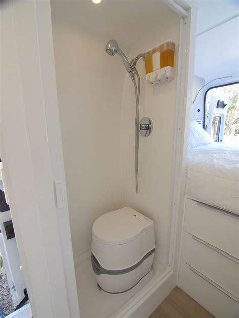building  wet bath  shower  promaster diy camper