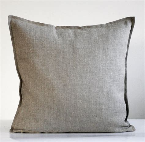 gray throw pillows linen pillow cover gray by pillow link traditional