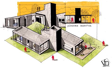 Architectural Flow Surrealist Home Illustrations by Architectural Flow Surrealist Home Illustrations By Neyra