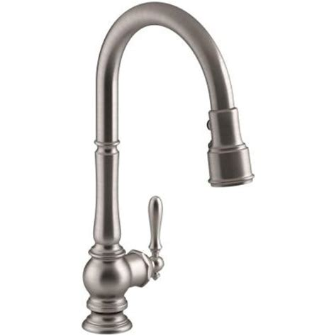 home depot kohler artifacts kitchen faucet kohler artifacts single handle pull sprayer kitchen