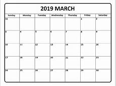 March 2019 Calendar March 2019 Calendar Printable – Pata