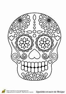 Tete De Mort Mexicaine Dessin : coloriage squelette sucre fleurs sur ~ Melissatoandfro.com Idées de Décoration