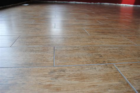 how to install porcelain tile that looks like wood wb designs